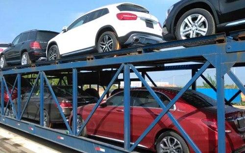 轿车托运车辆固定与注意事项